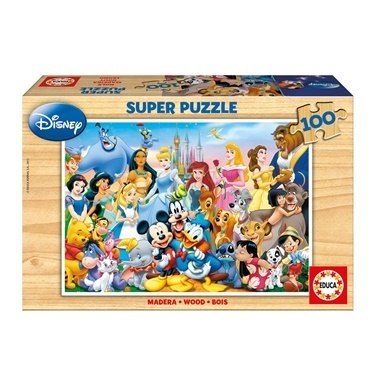 Educa Educa 100 Parça Ahşap Puzzle World Of Disney Renkli